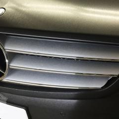 グリル ブラッシュドシルバー カーラッピング フルラッピング ベンツ CL AMG