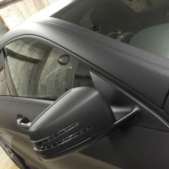 メルセデスベンツ CLA45 AMG モール マットブラック カーラッピング 東京