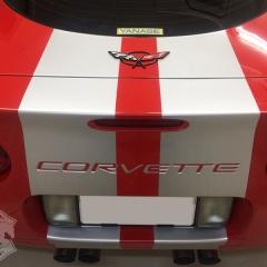 レーシングストライプ コルベット C5 レターエンブレム ラッピング 東京 台東区 グレア コーティング