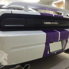 ダッジ チャレンジャー カーラッピング 東京 レーシングストライプ レーシングライン ステッカー カスタム