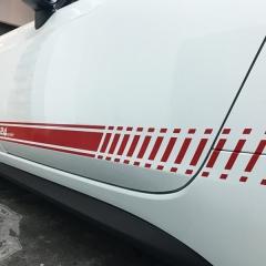 124スパイダー レーシングストライプ アバルト595 カーラッピング 東京 台東区 浅草