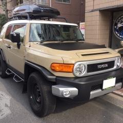 トヨタ FJクルーザー カーラッピング カスタム ドレスアップ ブラックアウト 東京 台東区 浅草