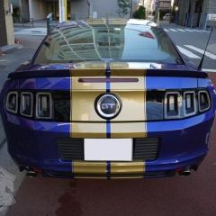 マスタング レーシングストライプ ゴールド フォード ラッピング