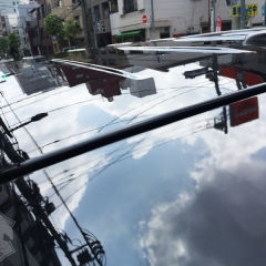 親水 コーティング ガラス 化学結合 磨き 東京 台東区 浅草