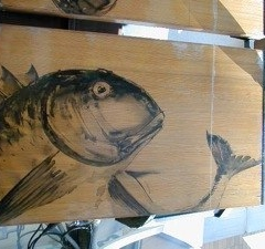 魚絵 絵画看板