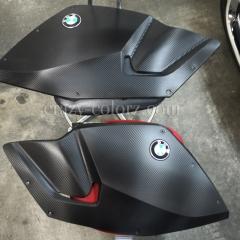 BMW バイク K 1300 S カーボンラッピング