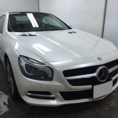 Mercedes Benz carwrapping pearl white crazycolorz