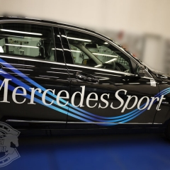 mercedes benz car wrapping