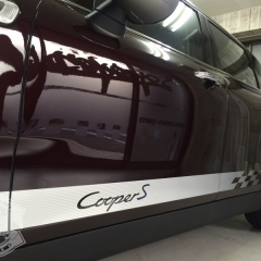MINI F54 Clubman racingstripe cqarwrapping