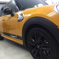 ミニ f55 サイドストライプ チェッカー ロゴ