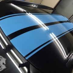 ミニ レーシングストライプ ステッカー ドレスアップ カスタム カーラッピング 東京
