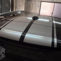 ストライプ ルーフラッピング ミニクーパー 東京 R60