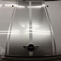 レーシングストライプ カーラッピング ミニクーパー R60 東京 カーラッピング