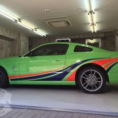 マスタング コブラジェット カーラッピング レーシングストライプ 東京
