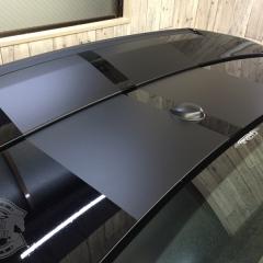 レーシングストライプ ラインステッカー 東京 台東区 カーラッピング マットブラック
