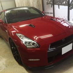 日産 GTR R35 カーラッピング カーボン ルーフ 東京