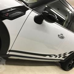 R60 レーシングストライプ クロスオーバー カーラッピング カーボン 東京