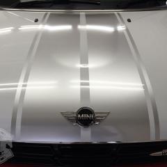 ミニ レーシングストライプ ライン ボンスト 東京 カーラッピング R60