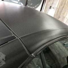 ルーフ ラッピング カーボン 東京 台東区 浅草 AMG