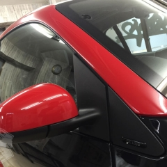 カーラッピング スマート 赤黒 レッド ブラック ドレスアップ 東京