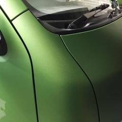 アップルグリーン マットメタリック カーラッピング 東京 フルラッピング 200系ハイエース
