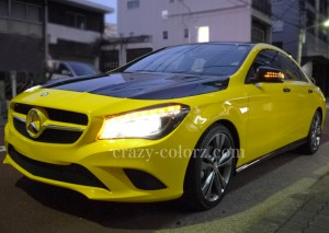 mercedes benz CLA yellow wrapping