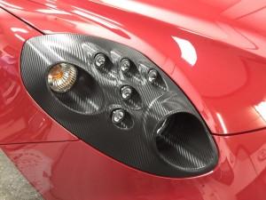 アルファロメオ 4C カーボン ヘッドライト ラッピング 東京