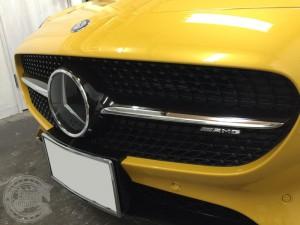 グリル カーラッピング AMG GTS 東京 台東区 浅草 グロスブラック