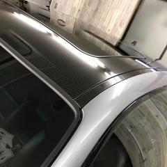 E46 カーラッピング ルーフ カーボン調 ツヤあり グロス ウエット 東京 台東区