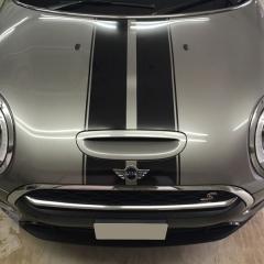 ボンネットストライプ カーラッピング ステッカー ミニ クーパー クラブマン F54 東京