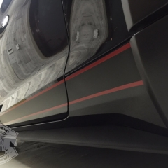 サイドストライプ デカール マットブラック マットレッド マスタング