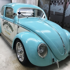 フォルクスワーゲン ビートル ガラスコーティング 親水 グレア 東京 台東区 クラシックカー