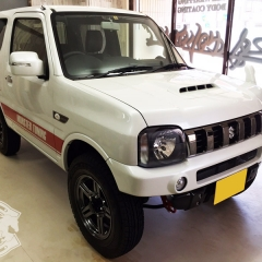 カーラッピング ジムニー レーシングストライプ 東京 デカール ステッカー