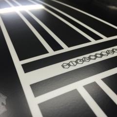 オリジナル カーラッピング レーシングストライプ マットブラック 東京 台東区 浅草