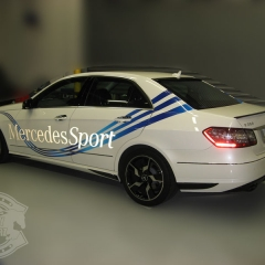mercedes sport equipment car wrapping