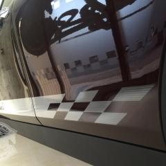 ミニ クラブマン 東京 台東区 カーラッピング レーシングストライプ オリジナル