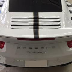 カーラッピング 911 991 マットブラック サテン ポルシェ デカール ストライプ ステッカー