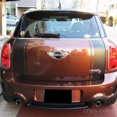 BMW-クロスオーバー茶エンジンフードストライプ