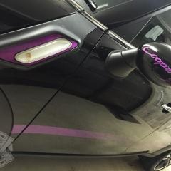 サイドストライプ スカットル グラデーション ミラー カーラッピング R60 東京