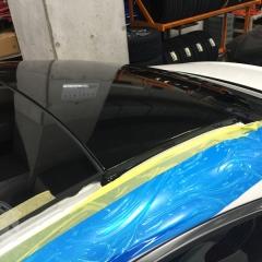 S63クーペ ルーフ 艶あり黒 ラッピング グロスブラック
