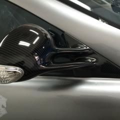 ミラー カーボンラッピング ツヤあり ウエット クレイジーカーボン SLR マクラーレン 東京 台東区 浅草