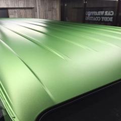 マットアップルグリーンメタリック カーラッピング フル ハイエース トヨタ 東京 台東区 浅草
