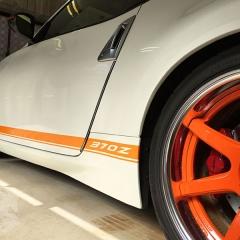 レーシングストライプ Z34 370Z カーラッピング 東京 台東区